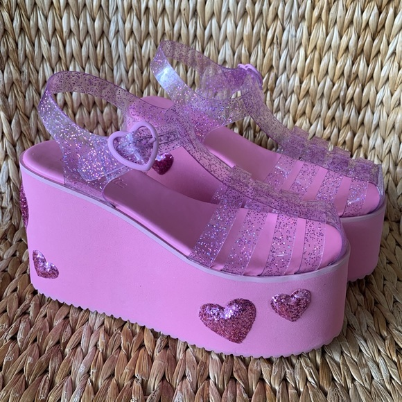 """Pink Purple White Platform Sandals Shoes fit 18/"""" American Girl Size Doll"""